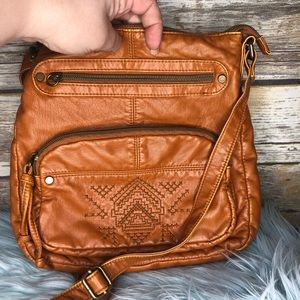 t-shirt & jeans Bags - T-shirt jeans boho vegan festival bag leather look